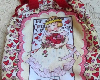 """Vintage Early 1990s Mary Engelbreit """"Queen of Hearts"""" Handbag/Purse New and Mint"""