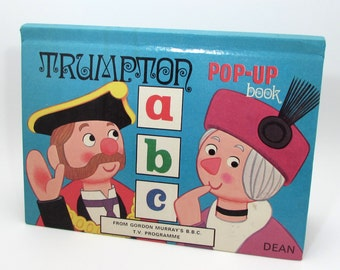Trumpton Pop-Up Book - ABCs - Vintage BBC Children's TV Show - 1974 - Dean and Son - England - British