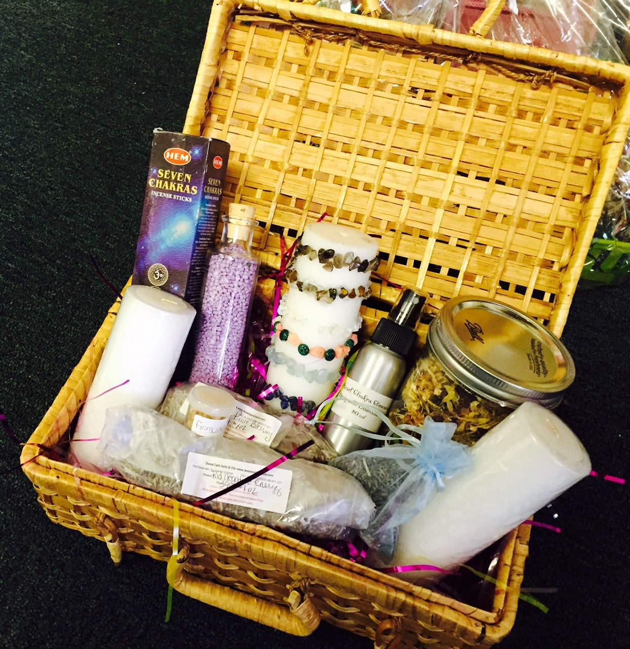Chakra Balancing House Blessing Gift Basket By