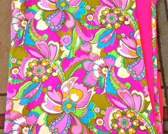 Psychedelic Quilt Vintage 60s Very Pucci