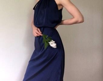 Anais Navy Dress