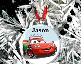 Disney Cars Lightning McQueen Holiday Christmas Tree Ornament