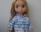 "Clothes for Disney Princess Animators Toddler 16 "" Doll Pajamas"