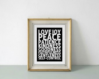 Fruit of the Spirit PRINT, choose from sizes and colors