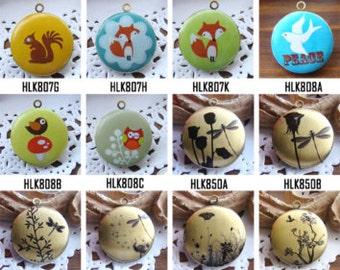 1pcs Photo Locket Necklace,  32mm 25mm 20mm Round Locket Charm - All Images Preview Part Eighteen