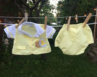 70s Baby Suit 3/6 Months