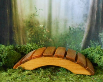 Fairy Garden Bridge, Miniature Garden Bridge, Foot Bridge, Mini Wood Bridge