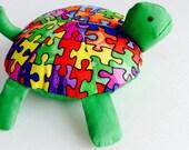 Autism Awareness Stuffed Turtle/Pincushion