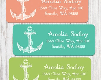 You are my Anchor Address Labels - Set of 60+ - You choose colour