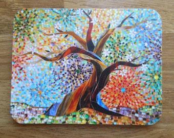 COASTER Multicoloured Tree of Life Coaster - Mosaic Art