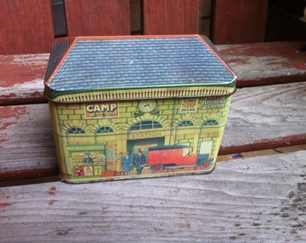 1984 New Series Village Stores designed and produced by Ian Logan London old tin house shape