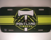 Portland Timber........License Plate Clock