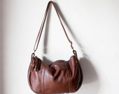 SALE /Leather Crossbody Bag in Chestnut Brown /  Crossbody Bag / Leather Bag /Leather Messenger Bag / Leather Tote / Shoulder Bag /