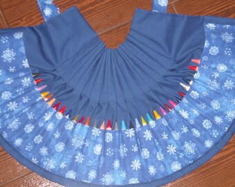 Snowflakes Crayon apron