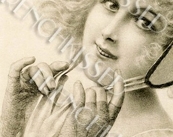 Marquess in Gloves and Hat Historical Fashion MM Vienne Postcard Digital Scan