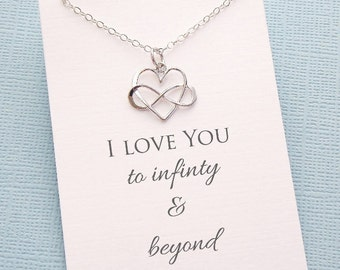 Layering Necklace | Infinity Necklace, Boho Jewelry, Dainty Minimalist Jewelry, Wife Birthday, Valentines Gift | Silver, Rosegold, Gold |L01
