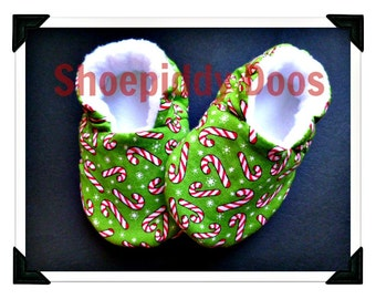 Candy Canes - Soft Baby Shoes, 6-12 Months