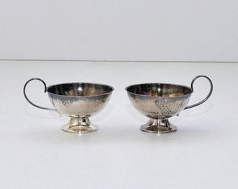 Vintage Ceson Göteborg Sweden 830 Silver Espresso Cups, Pair
