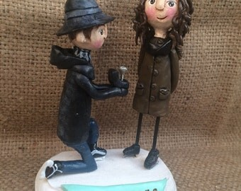 Custom Couple Clay Portrait personalized clay sculptures based on your photos