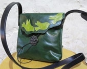 Green Leather Birdie Shoulder Bag