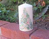 Christmas Tree 3x6 pillar candle