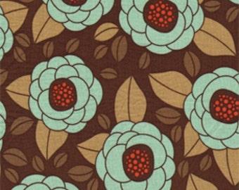 HALF YARD - Joel Dewberry Fabric, Aviary 2 Collection, Bloom in Bark - SALE