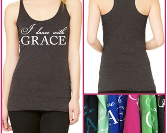 GraceWear Racerback Tank Top with Customized Text and Colors