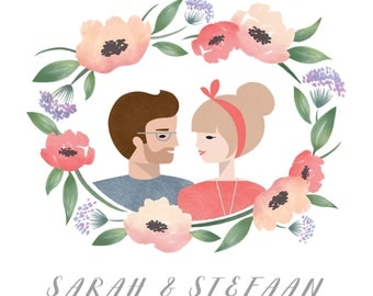 custom floral portrait