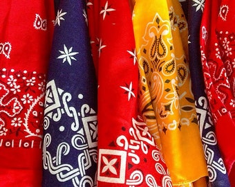 Born In The USA ... Instant Collection of Eleven Vintage Paisley Bandannas Bandanas Handkerchiefs Scarves Made In The USA