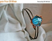 HalfOff Copper and Glass Bangle