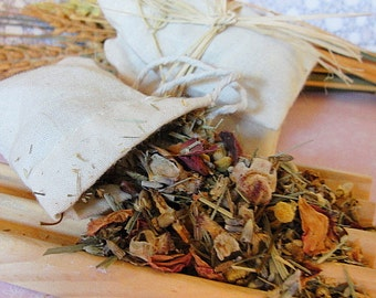 TUB Teas--Bath Teas--HERBAL Pampering Bath--Organic Herbs and Muslin Bags--Handmade Aromatherapy