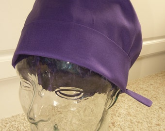 Fold Up Surgical Scrub Hat in Solid Purple