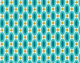 Polka Dot fabric, Aqua fabric, Cotton Fabric by the Yard, True Colors fabric, Dots in Aqua by Joel Dewberry, Choose your cut