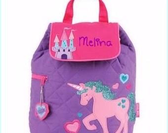 Toddler backpack- monogram backpack- personalized toddler backpack- backpack diaper bag- Unicorn Backpack