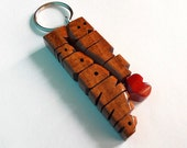 Wave Keychain in Mahogany...