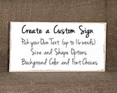 Wood Home Decor, Design Create Customized Sign, Country Cottage Chic Signage, Primitive Farmhouse, Rustic Plaque, Workmate Coworker Gift