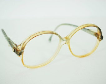 CLEARANCE SALE - Pierre Cardin 1970's Vintage Logo Eyeglasses Frames - Gold # One 132