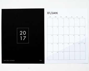 2017 Wall Calendar - Basic
