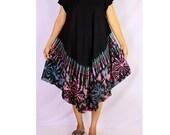 Women Maxi Gypsy Boho Hippie Summer Beach Tie Dye Rayon Comfy Dress (TD 17)