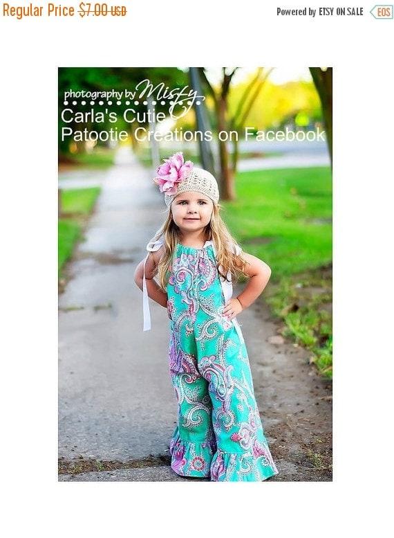 SALE Pillowcase Romper Pattern preemie through 10 girls w. ruffles 3 leg lengths Instant PDF