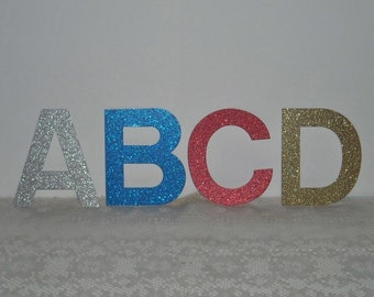 Glitter Letters, 4-Inch, Banner Letters, Alphabet Letters - Choose Color, Number of Letters
