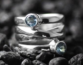 Topaz Ring Silver Womens Personalize Jewelry Custom Gemstones