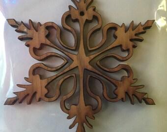 Cedar Snowflake #2 ornament
