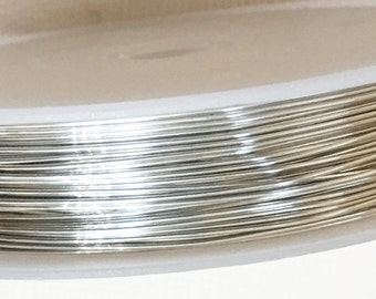 25ft spool of Copper beading wire 24 gauge Silver color
