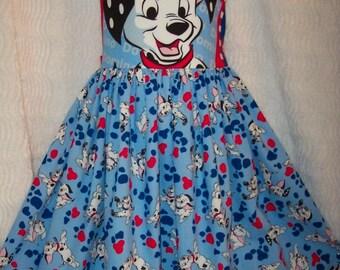 VHTF! DISNEY 101 DALMATIONS fabric Jumper Dress