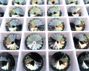 6 Crystal Tabac Unfoiled Swarovski Beads Rivoli Stone 1122 12mm