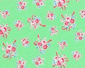 Mint Ribbon Bouquet 31378 60 Fabric by Lecien Flower Sugar Sweet Carnival