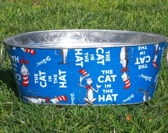 The Cat in the Hat Medium Short Oval Tub - Great for Books!