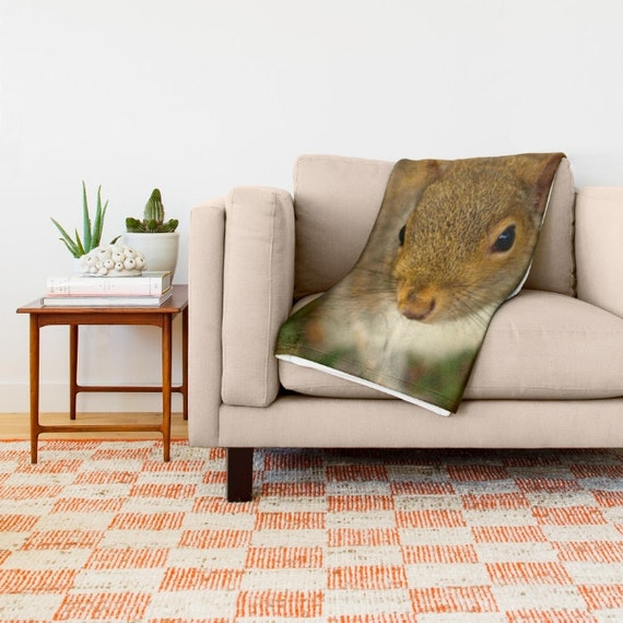 Squirrel In The Woods Blanket