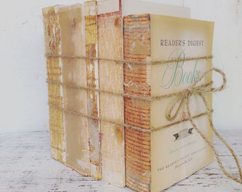 Home Decor Trend, VINTAGE BOOKS, Urban Texture, French Nordic, Uncovered Book Bundle, Minimal Decor, Uncovered Books, Old Books, Raw Books